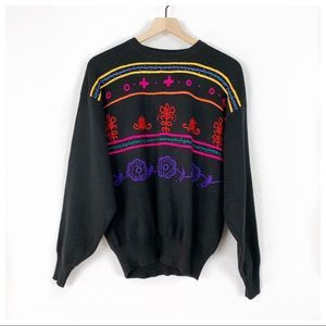 Obermeyer Lucie Embroidered Wool Blend Sweater